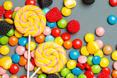 colorful candy. top view Stock Images