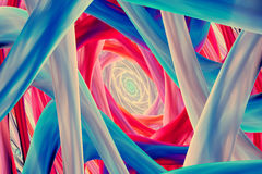 Colorful candy tubes abstract background. Colorful candy tubes computer generated abstract background, 3D render Royalty Free Stock Photos