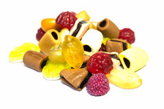Colorful candy on white background. Fruit candy pretty colors on a white background Royalty Free Stock Photography