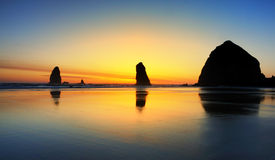 Colorful Cannon Beach Sunset Stock Image