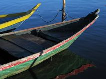 Colorful canoe. Canoes in the river Tapajós - Amazônia Stock Photo