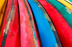 Colorful of canoe, background Royalty Free Stock Image