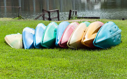 Colorful canoe Stock Photography