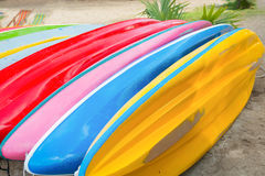 Colorful of canoe row. Stock Images