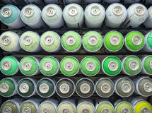 Colorful cans of paint Royalty Free Stock Photography