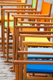 Colorful Canvas Rocking Chairs Stock Images