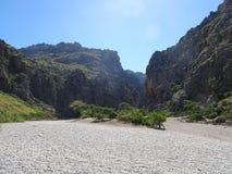 The canyon Torrent de Parais, Sa Calobra, Mallorca, Ballears Stock Photography