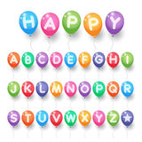 Colorful capital alphabet letter balloons Stock Photo