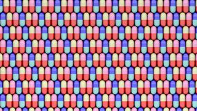 Colorful caplets continuous rows Royalty Free Stock Photography