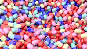 Colorful caplets Stock Photos