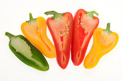 Colorful Capsicum, Pepper Royalty Free Stock Photos