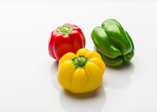 Colorful capsicum. On white background Stock Photos