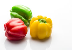 Colorful capsicum. On white background Stock Images