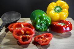 Colorful capsicum Stock Photography