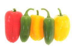Colorful Capsicums Stock Photo