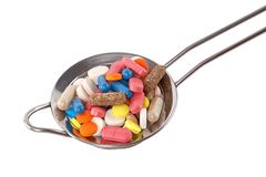 Colorful capsule, pill and tablet Stock Photo