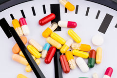 Colorful capsules on dial Royalty Free Stock Images