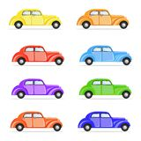 Colorful Car. Illustration of set of colorful car on isolated background Royalty Free Stock Photos