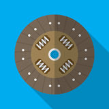 Colorful car clutch plate disk icon in modern flat style with long shadow. Stock Photography