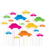 Colorful car pattern background Stock Images