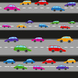 Colorful car pattern vector illustration Stock Photo
