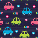 Colorful car pattern vector illustration Stock Images