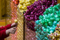 Colorful caramel in confectionary shop Royalty Free Stock Images