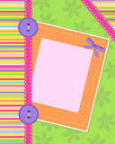 Colorful card. Designed like sewing craft Royalty Free Stock Photos