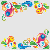Colorful Card. Abstract swirl set for background or card. Files in EPS10 Stock Photography