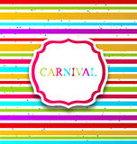 Colorful card with advertising header for carnival Stock Image