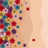 Colorful card of flowers. Vector illustration Stock Image