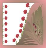 Colorful card with poppies. Colorful card with poppy flowers and leafs royalty free illustration