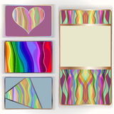 Colorful card set. Royalty Free Stock Image
