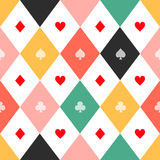 Colorful Card Suits Chess Board Diamond Background Royalty Free Stock Images