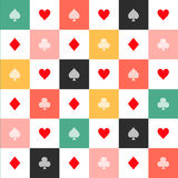Colorful Card Suits Chess Board Diamond Background Stock Images