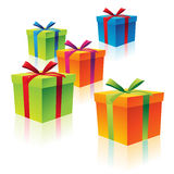 Colorful Cardboard Gift Boxes Royalty Free Stock Photography
