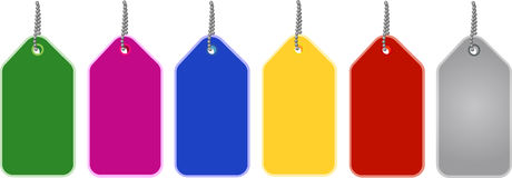 Colorful Cardboard Tags Royalty Free Stock Photo