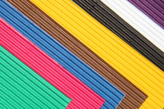 Colorful cardboard with texture and shape Royalty Free Stock Images