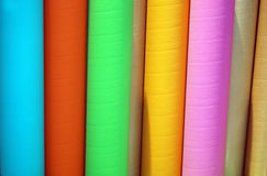 Colorful cardboard tubes Royalty Free Stock Photos