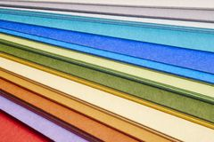 Colorful cardboards macro detail. Choose color. Textured backgro. Und. Horizontal Royalty Free Stock Images