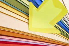 Colorful cardboards macro detail. Choose color. Textured background stock photo