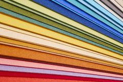 Colorful cardboards macro detail. Choose color. Textured background royalty free stock photo