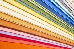 Colorful cardboards macro detail. Choose color. Textured backgro. Und. Horizontal Royalty Free Stock Photos