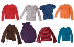 Colorful cardigans Royalty Free Stock Photos