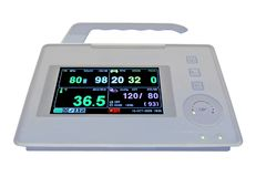 Colorful cardiovascular portable monitor, medical,. Digital color cardiovascular portable monitor display the cardio diagnostic results of patient (including Stock Photography