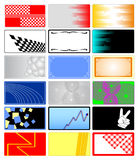 Colorful cards. Background designs for business cards Royalty Free Stock Image