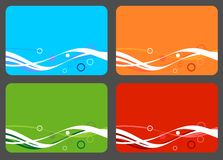 Colorful cards. 4 colorful business cards with place for your text Stock Image