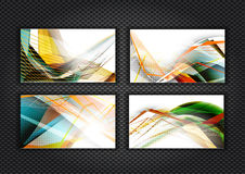 Colorful cards on carbon background. Vector business card set. Corporate design Royalty Free Stock Images