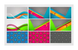 Colorful cards. EPS 10. This is editable vector illustration Royalty Free Stock Photos