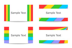 Colorful cards set. The set of beautiful, bright and colorful backgrounds Stock Photo